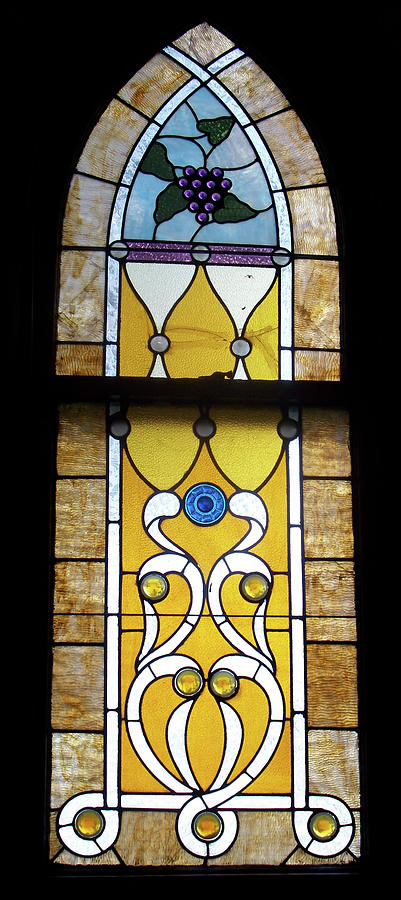 Stained Glass Photograph - Brown Stained Glass Window by Thomas Woolworth