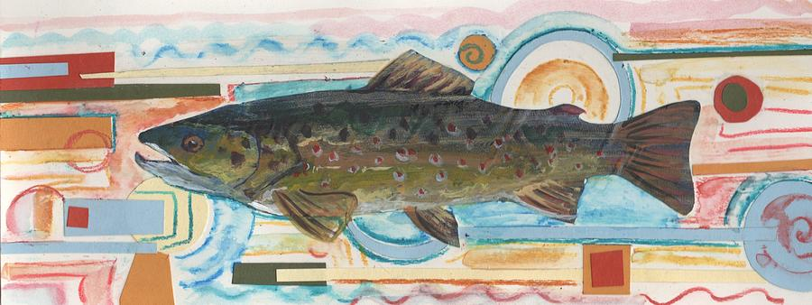 Trout Painting - Brown Trout 1 by Michelle Grove