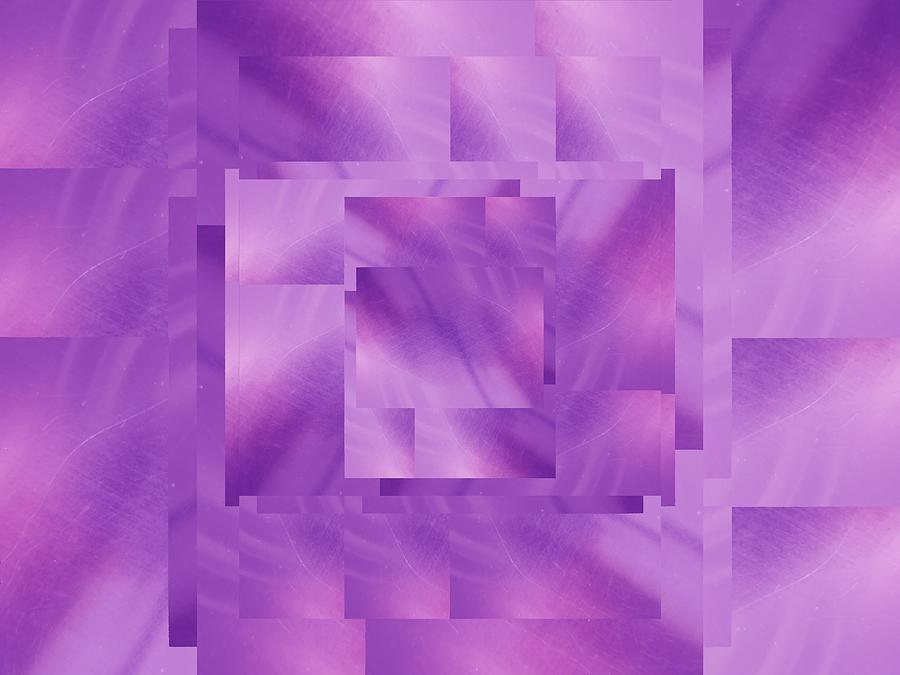 Abstract Digital Art - Brushed Purple Violet 10 by Tim Allen