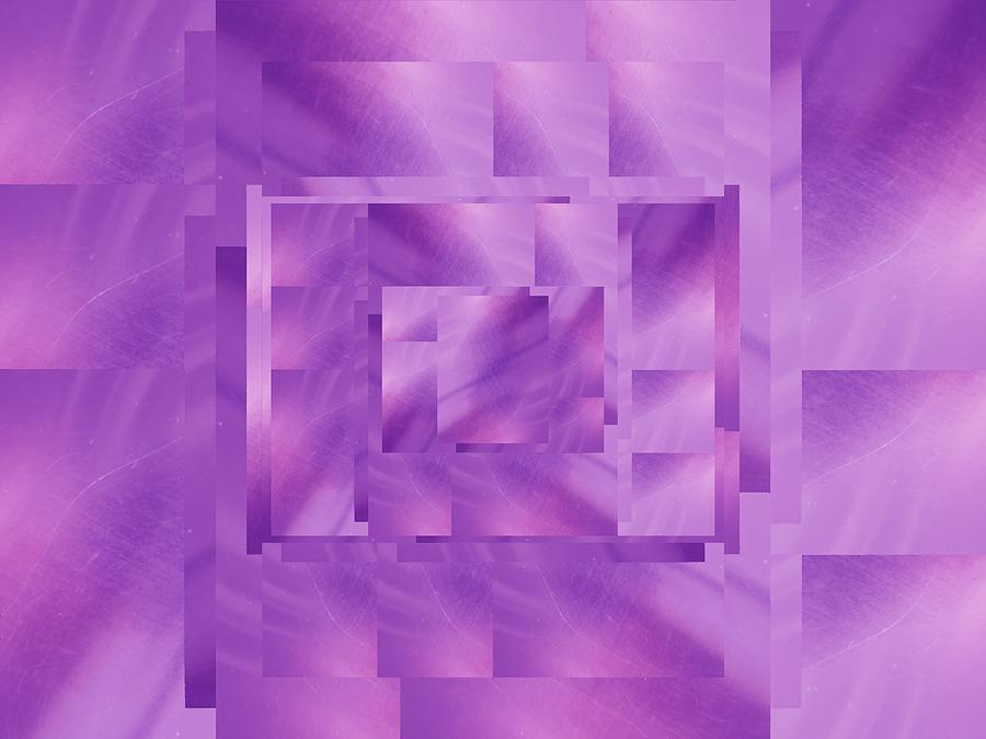 Abstract Digital Art - Brushed Purple Violet 11 by Tim Allen