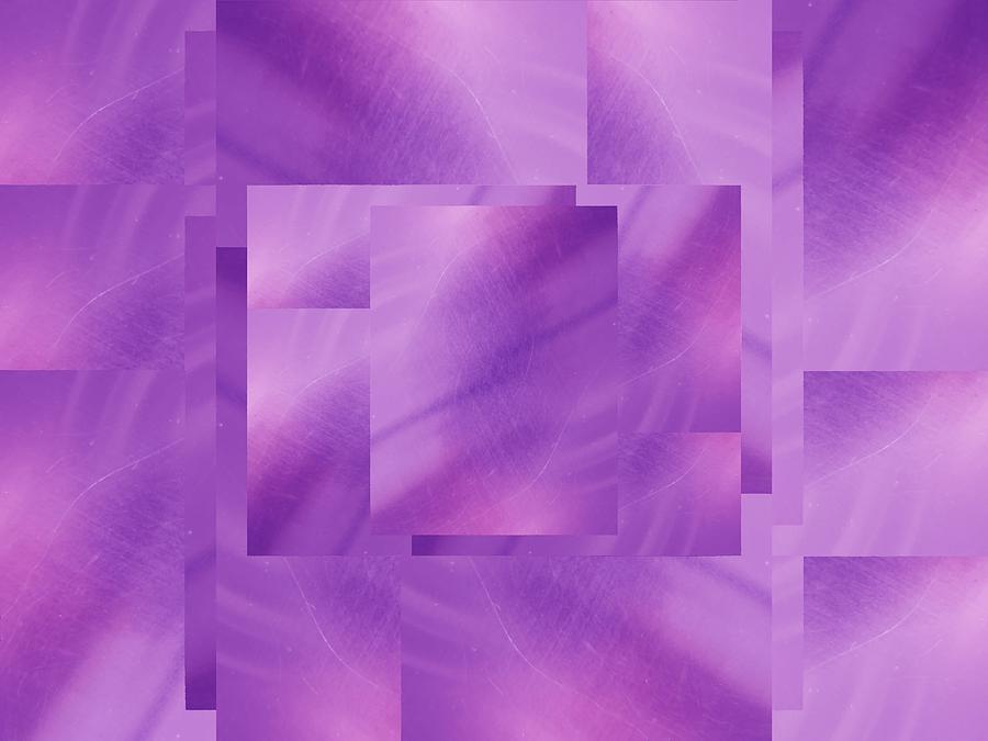 Abstract Digital Art - Brushed Purple Violet 2 by Tim Allen