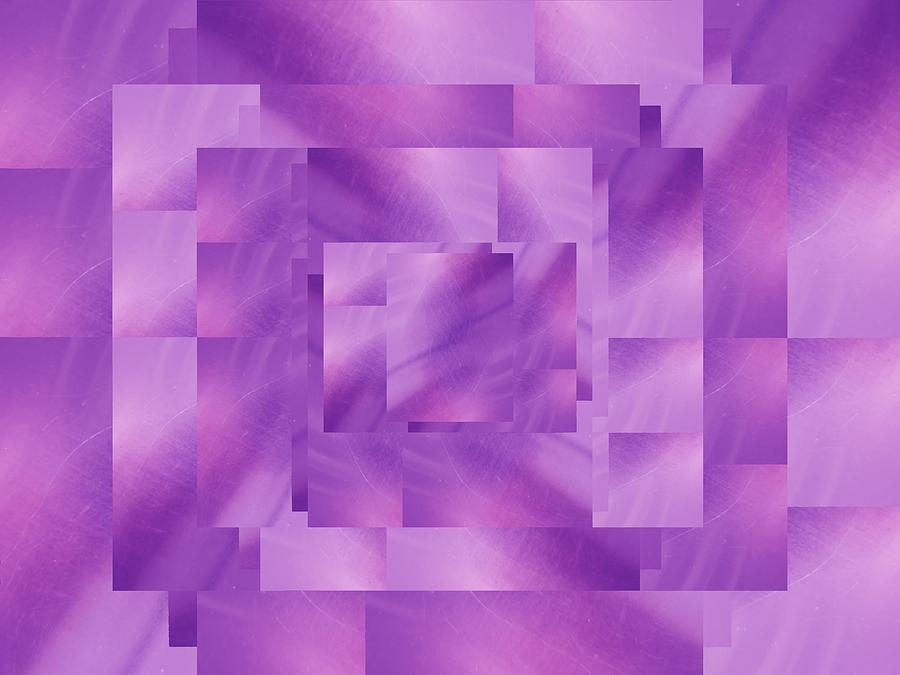 Abstract Digital Art - Brushed Purple Violet 4 by Tim Allen