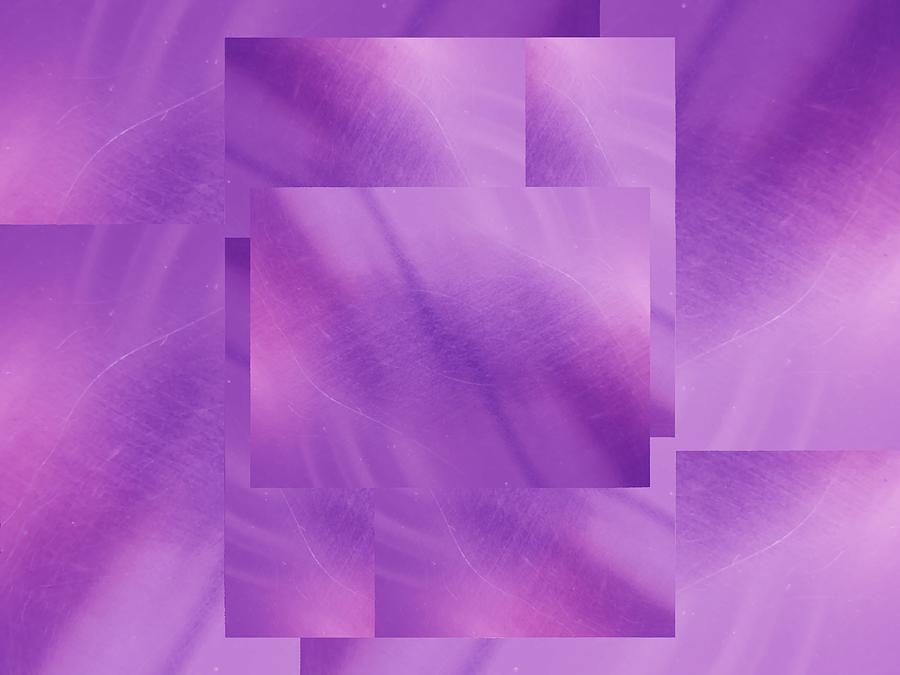Abstract Digital Art - Brushed Purple Violet 5 by Tim Allen