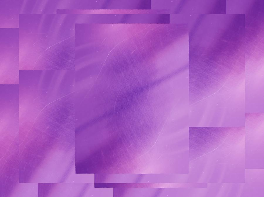 Abstract Digital Art - Brushed Purple Violet 6 by Tim Allen