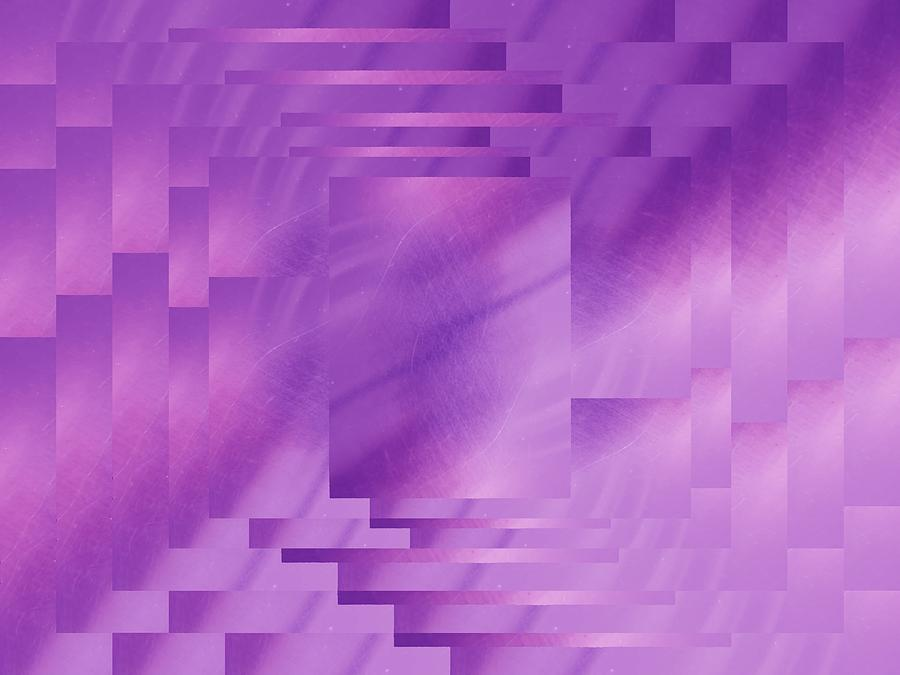 Abstract Digital Art - Brushed Purple Violet 8 by Tim Allen