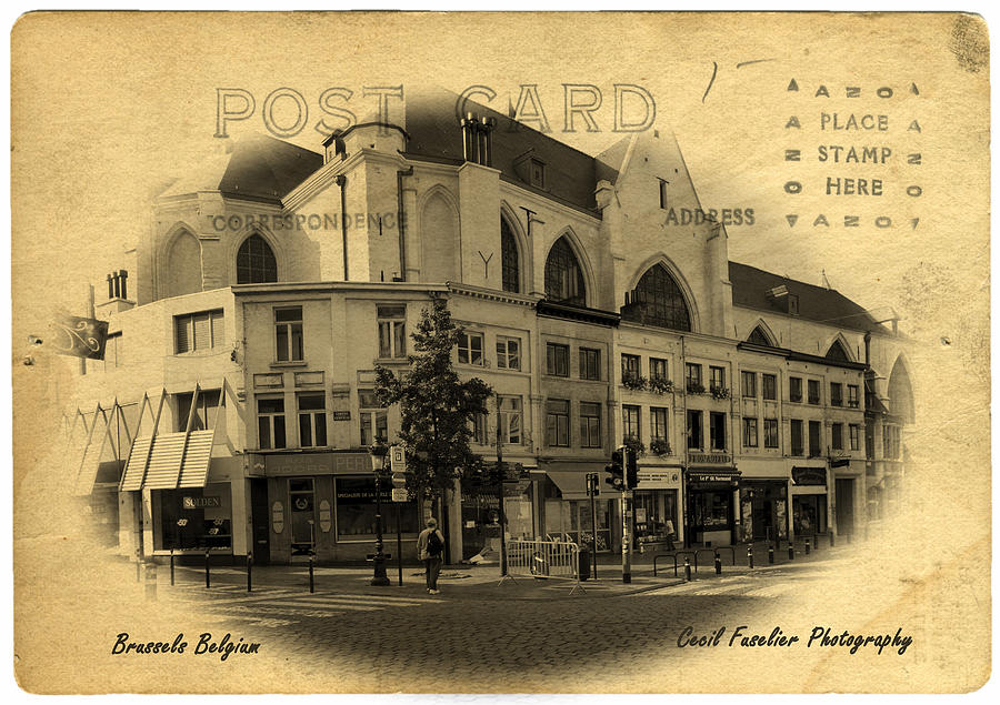 Belgium Photograph - Brussels Street Corner by Cecil Fuselier