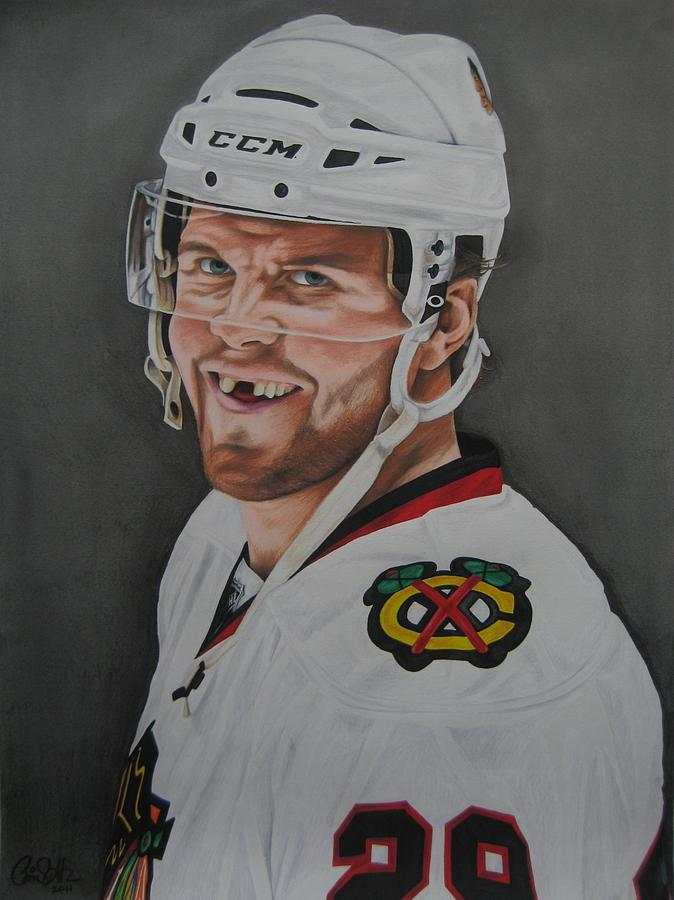 Bryan Drawing - Bryan Bickell by Brian Schuster