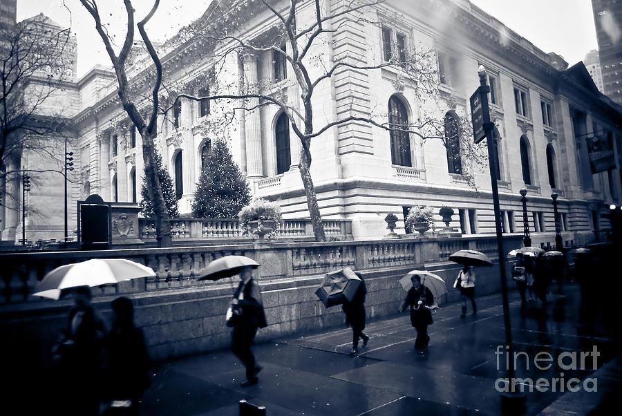 New York Photograph - Bryant Park Umbrella Runway by Chandra  Dee
