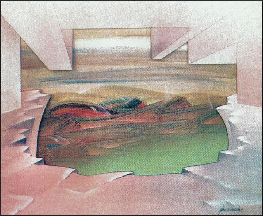 Bubbles Painting - Bubblescape 1980 B by Glenn Bautista