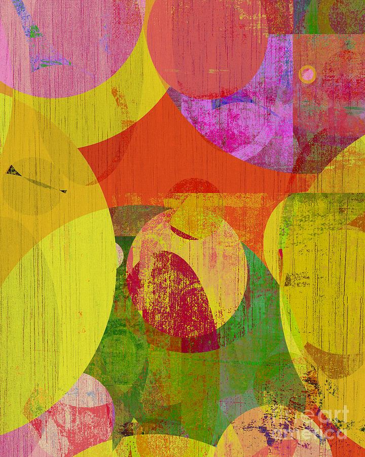 Aqua Mixed Media - bubblicious VI by Ricki Mountain