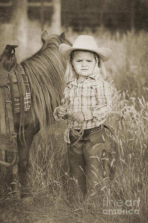 Horse Digital Art - Buckaroo Cowgirl And Horse by Cindy Singleton