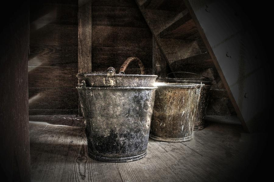 Buckets Photograph - Buckets by Christine Annas