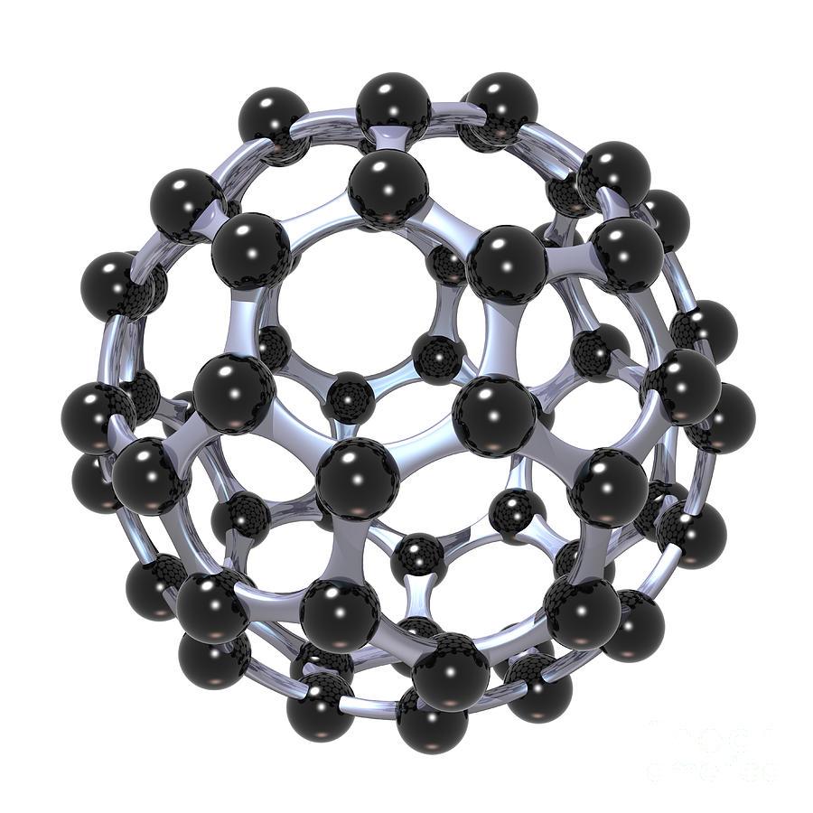 Allotrope Digital Art - Buckminsterfullerene Or Buckyball C60 18 by Russell Kightley