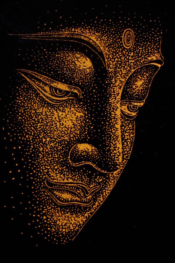 Buddha Painting By Dinushi Liyanage