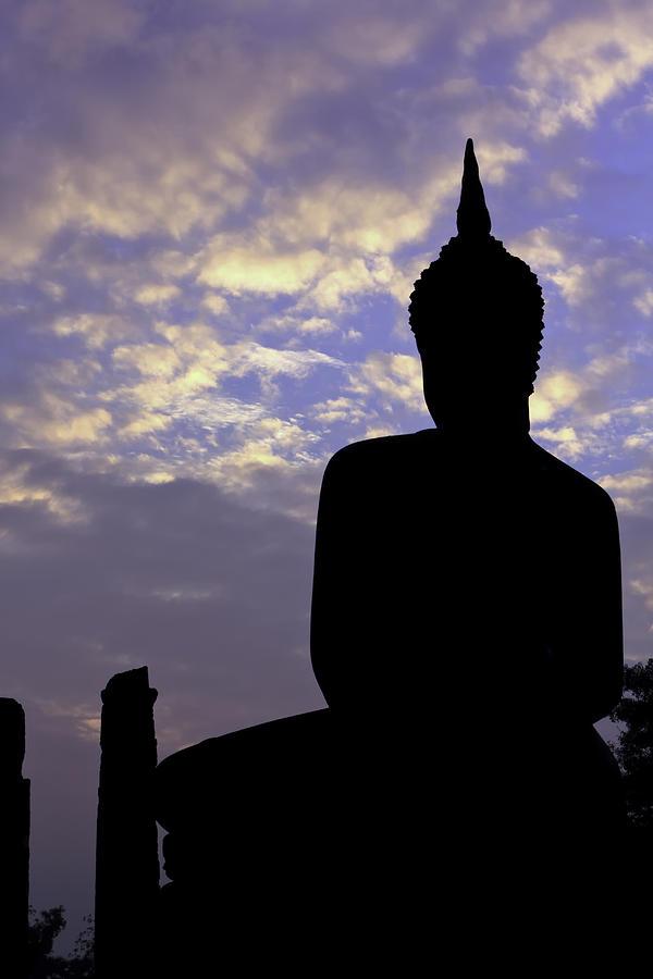 Asia Photograph - Buddha Silhouette by Thomas  von Aesch