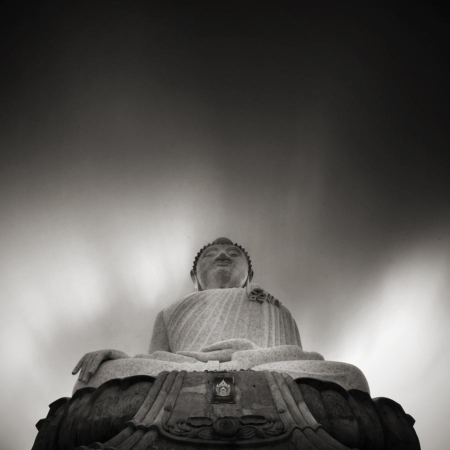 Ancient Photograph - Buddha Statue by Teerapat Pattanasoponpong
