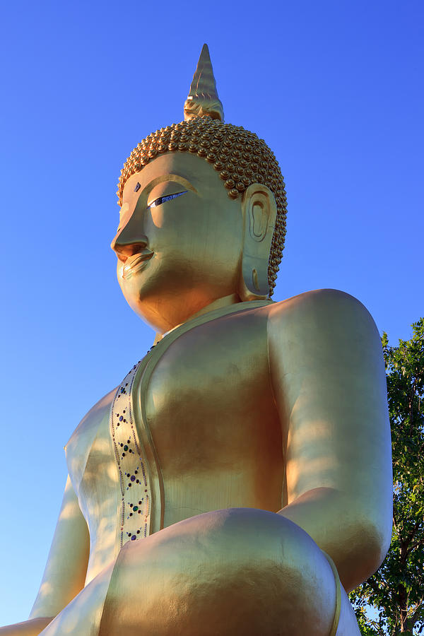 Thailand Photograph - Buddha With Sunset by Thomas  von Aesch