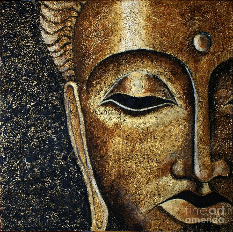 Buddha Painting - Buddhas Head I by Paulina Garoa