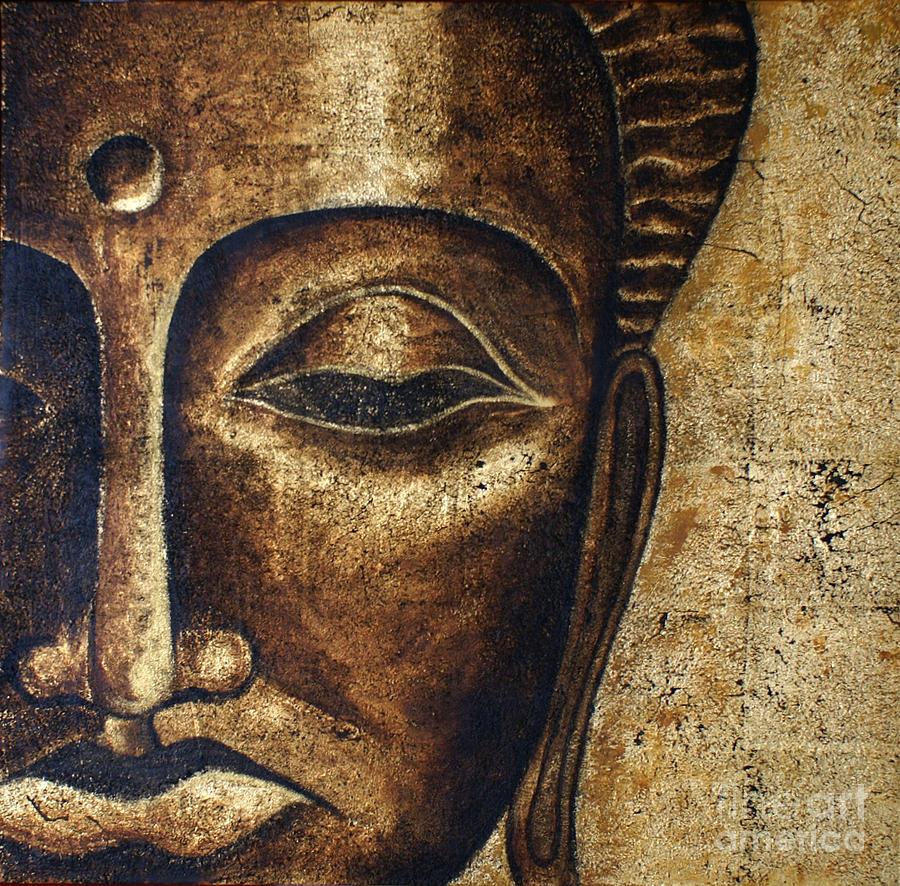 Buddha Painting - Buddhas Head II by Paulina Garoa