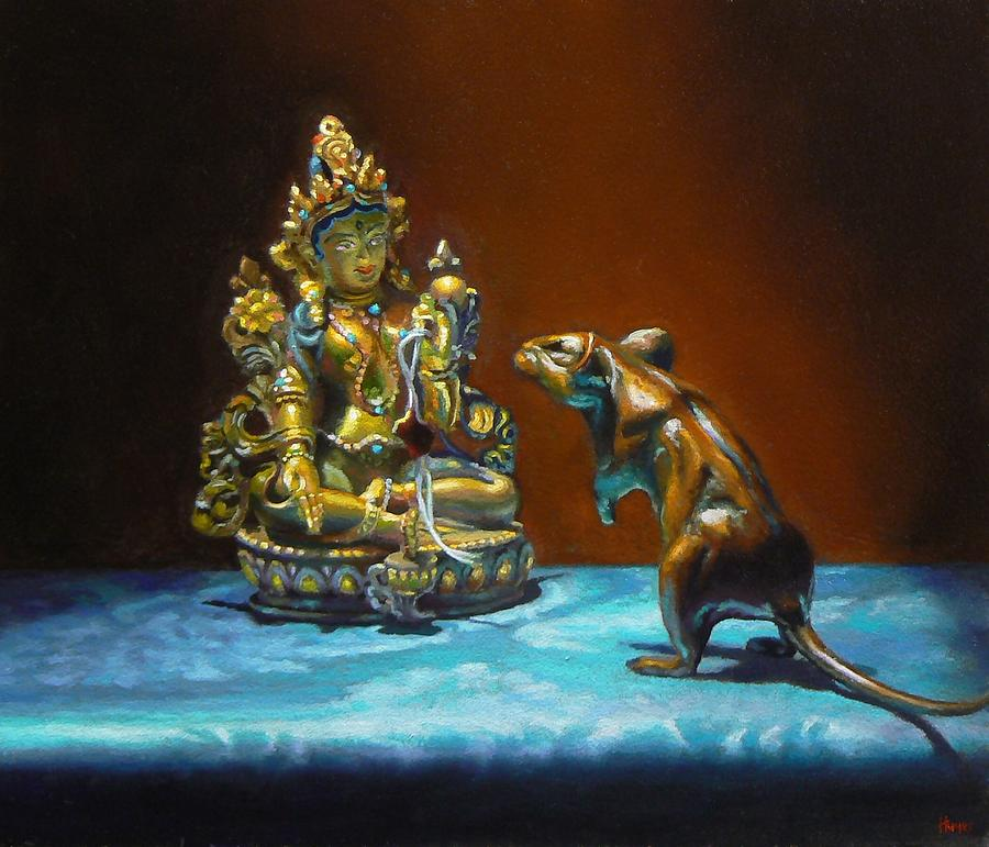 Still Life Painting - Buddhas by Jeffrey Hayes