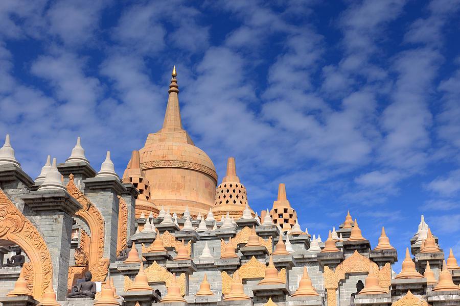 Thailand Photograph - Buddhist Temple In Roi-et by Thomas  von Aesch