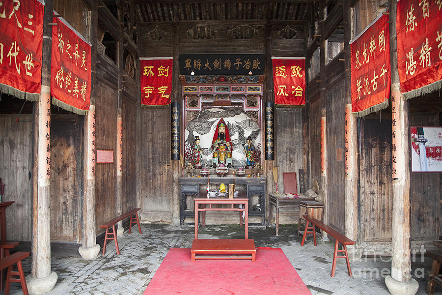 Buddhist Temple Interior Photograph By Shannon Fagan