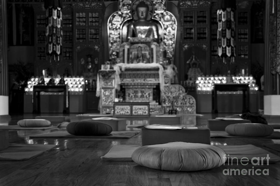 Buddha Photograph - Buddhist Temple Woodstock by Design Remix