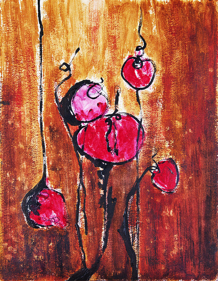 Abstract Painting - Buds by Tara Thelen