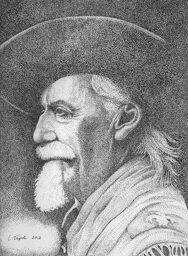 Buffalo Bill Cody Drawing - Buffalo Bill Cody by Lawrence Tripoli