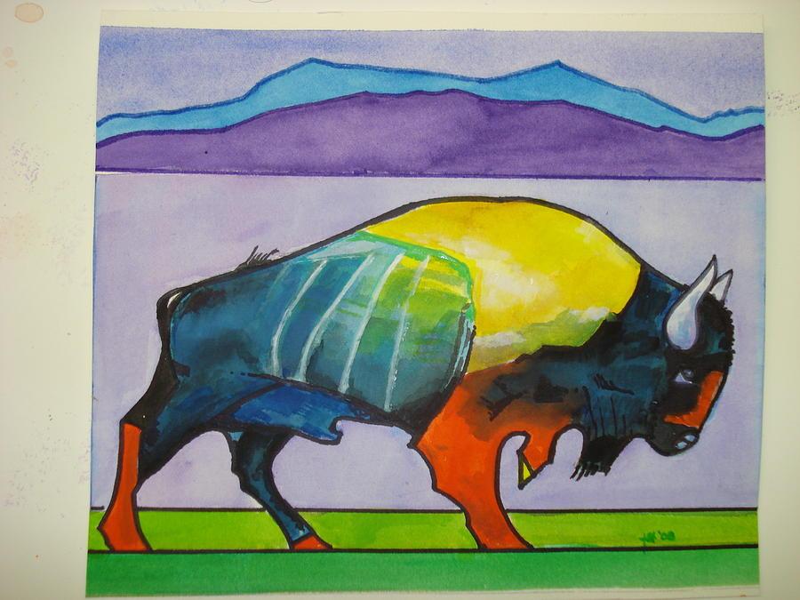 Buffalo Painting - Buffalo by Jeff Knott