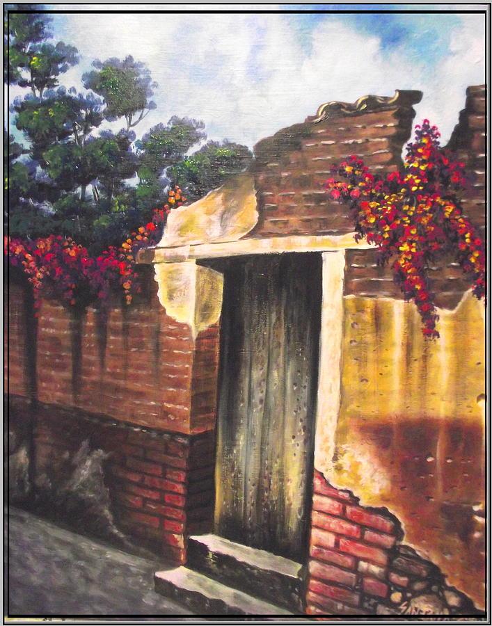 Puebla Painting - Bugambilias De Tia Tonchi by Joe Santana
