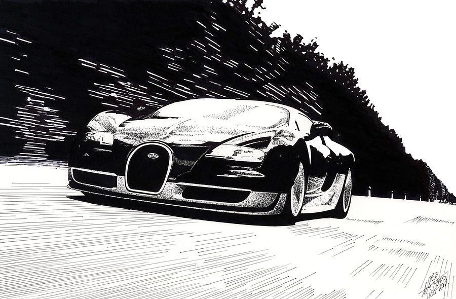 Bugatti Mixed Media - Bugatti Speed by Lyle Brown