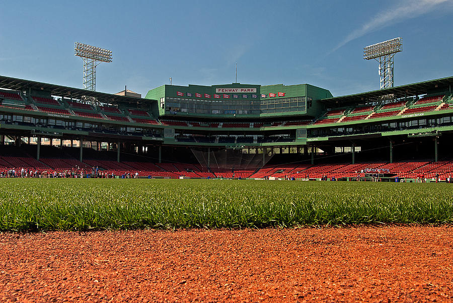 Boston Red Sox  - Bugs Eye View From Center Field by Paul Mangold