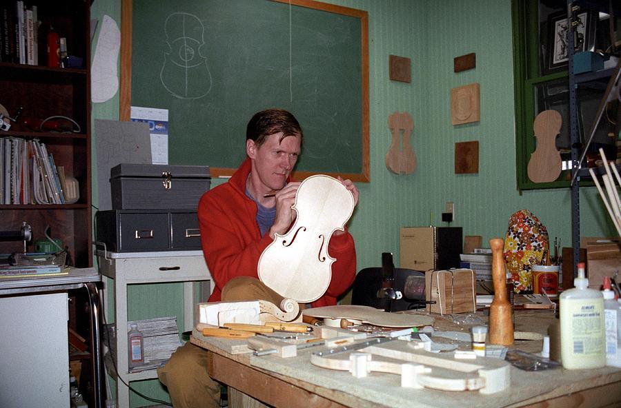 Viola Photograph - Building A Viola 1990s Joseph Duba by Joseph Duba