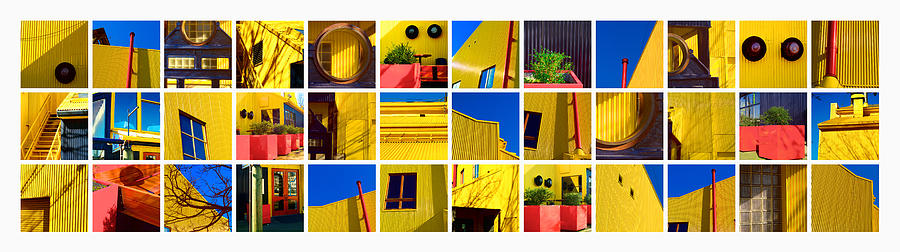 Art Pyrography - Building Mosaic  by Mauro Celotti