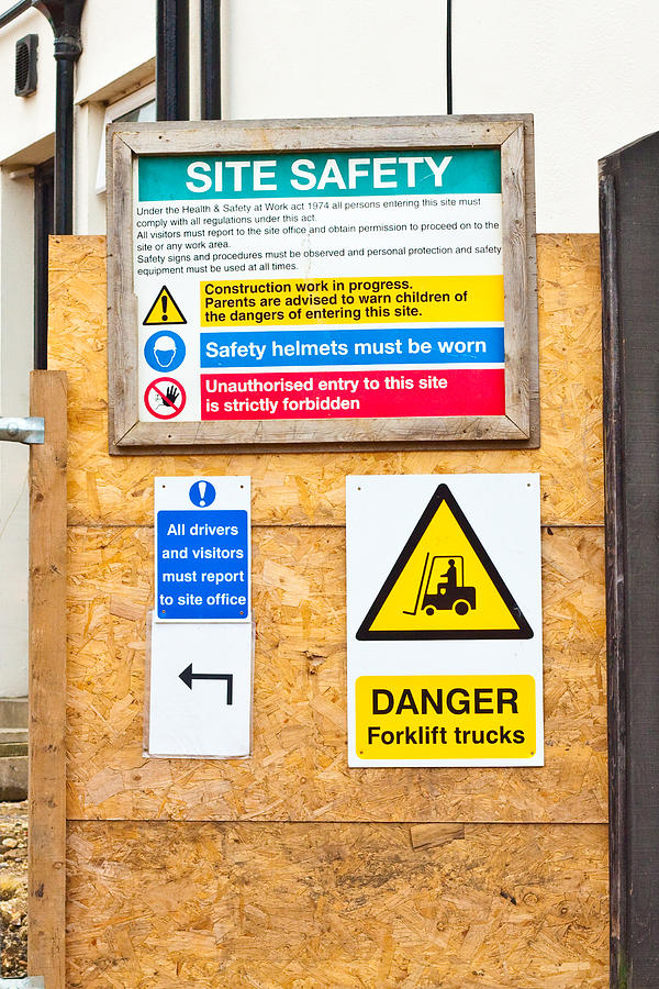 Building Photograph - Building Site Signs by Tom Gowanlock