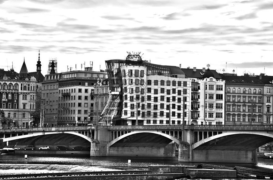 Buildings Pyrography - Buildings In Prague by Thomas Kessler