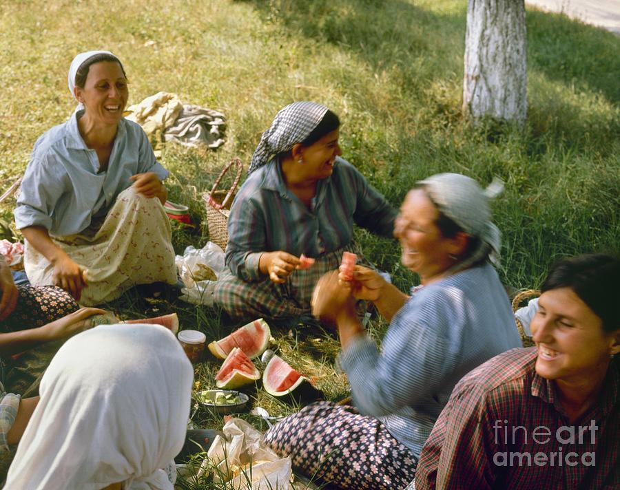 1970 Photograph - Bulgaria: Peasants by Granger