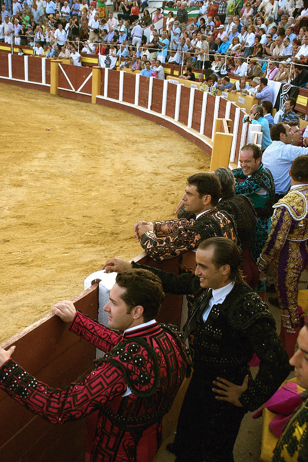 Bull Ring Photograph - Bull Ring Arena With Toreadors by Perry Van Munster