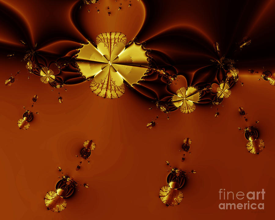 Fractal Digital Art - Bumble Beez Over Chocolate Lake . S19 by Wingsdomain Art and Photography