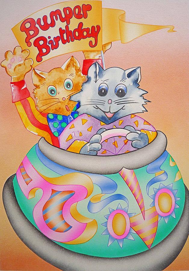Bumper Painting - Bumper Birthday by Virginia Stuart