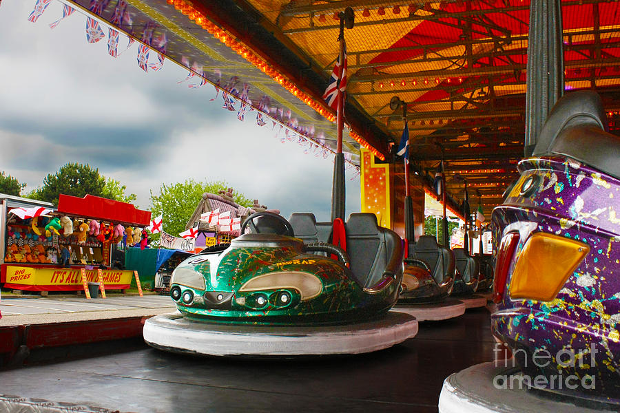 Dodgems Photograph - Bumper Cars by Terri Waters