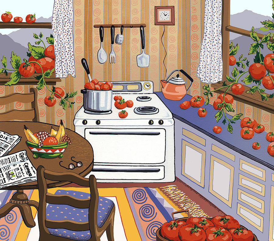 Tomatoes Painting - Bumper Crop by Anne Gifford