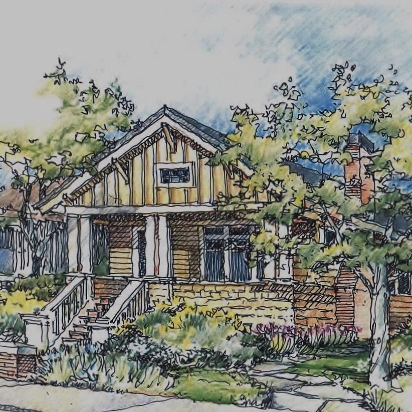 Bungalow Drawing By Andrew Drozdowicz