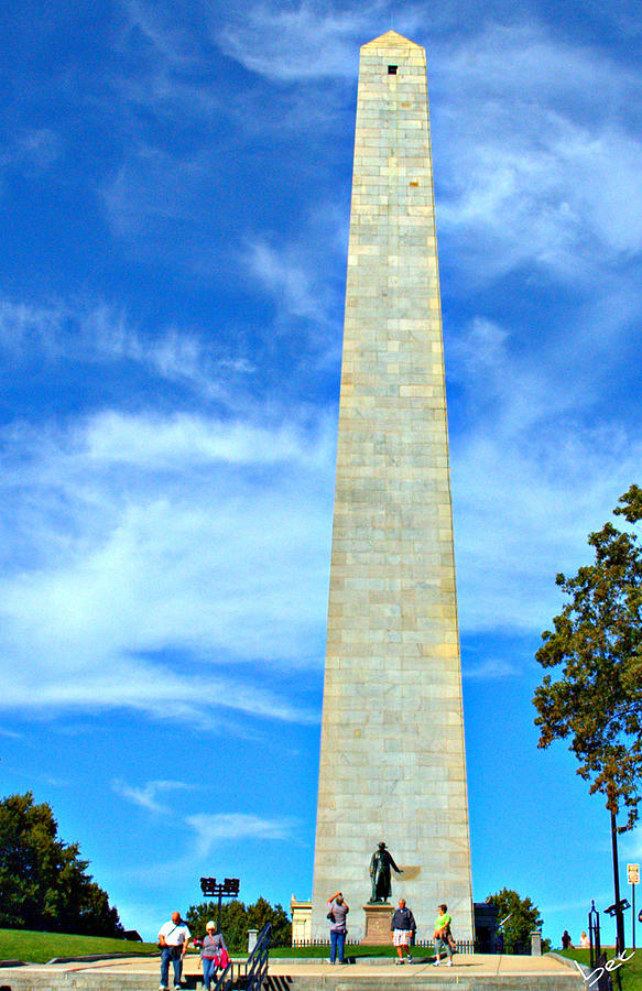 Boston Photograph - Bunker Hill Monument by Bruce Carpenter