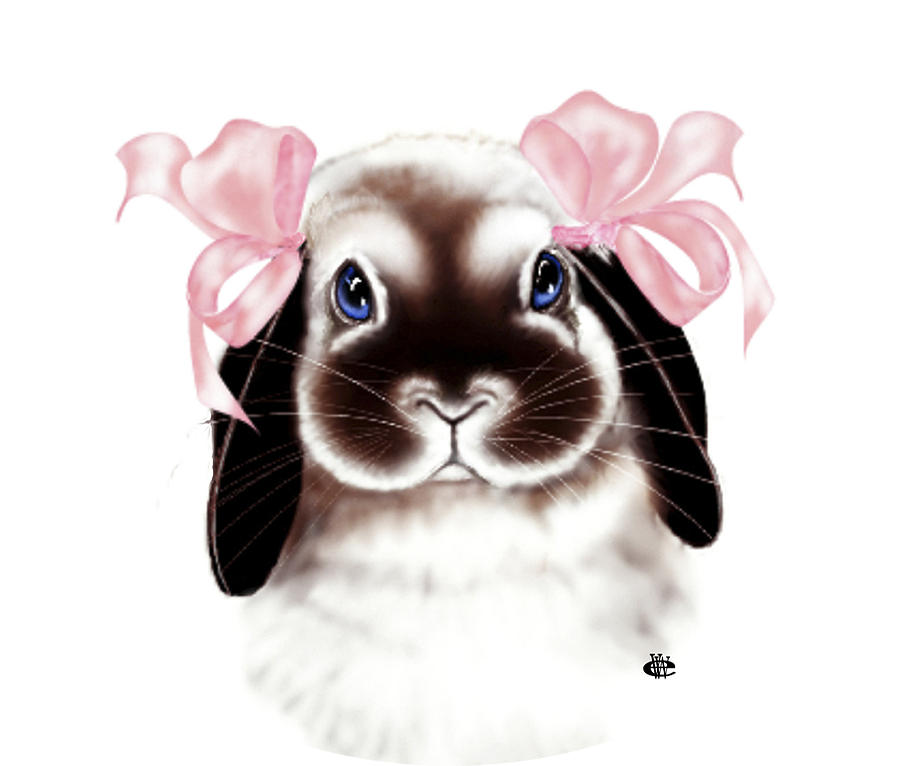 Bunny Digital Art - Bunny by Elaine VanWinkle