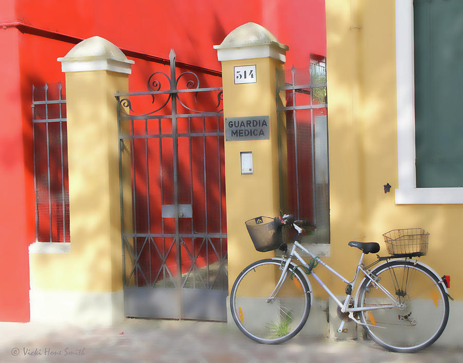Burano Bicyle Doctor by VICKI HONE SMITH