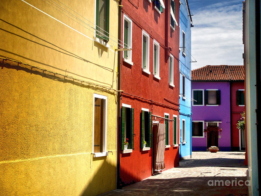 Burano Photograph - Burano Island - Colorful Houses by Gregory Dyer