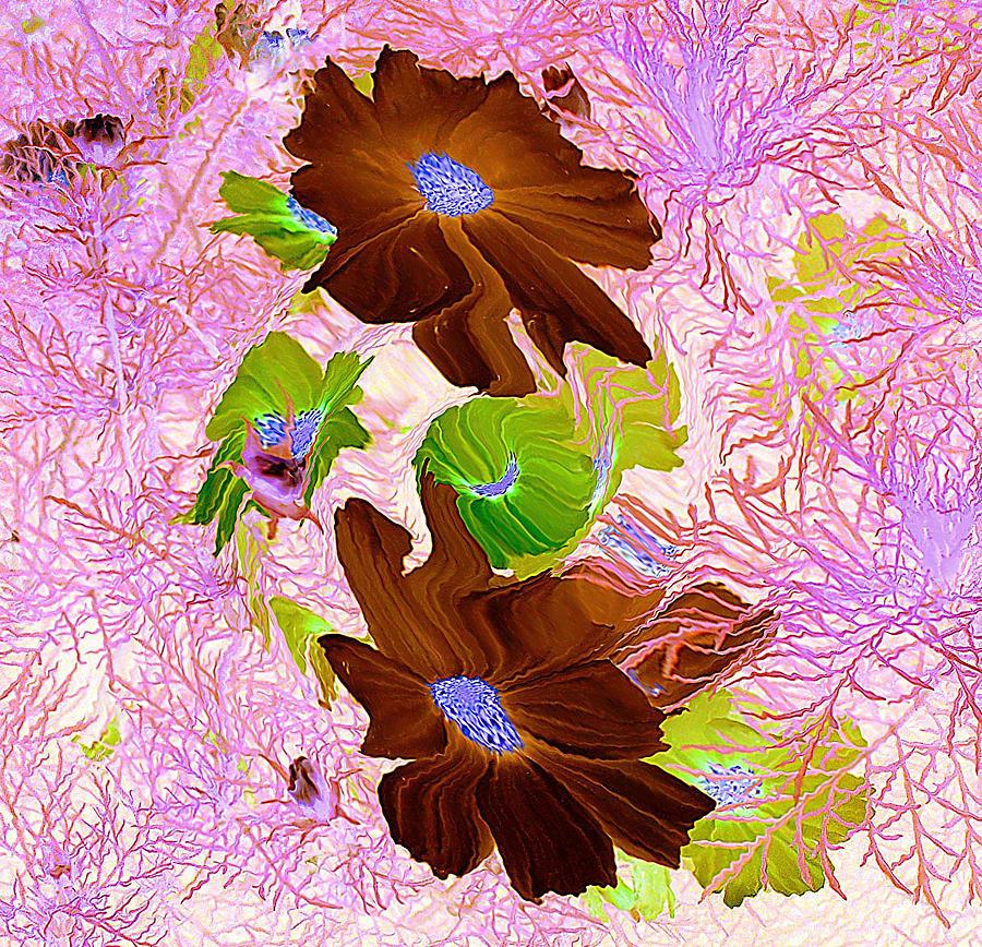 Burgundy Flowers Painting