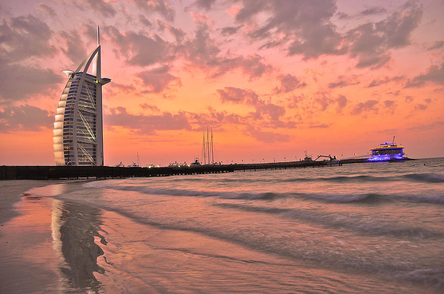 Burj Pyrography - Burj Al Arab Dubai by Anusha Hewage
